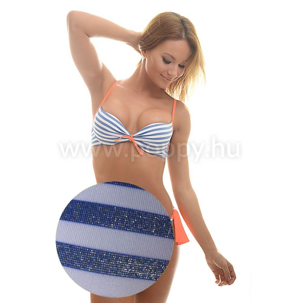 Poppy Pussy Cambria Kék-Fehér-Narancs Bikini - Bikini KIÁRUSÍTÁS ... ca2c9293d4