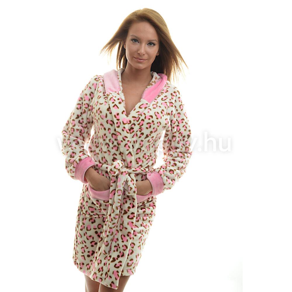 Poppy Deby Pink Ocelot Női Köntös e625acd60a