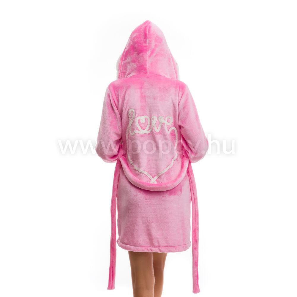 Poppy DK Love Aprószíves Közép Pink-Ekrü Köntös ee9385b836