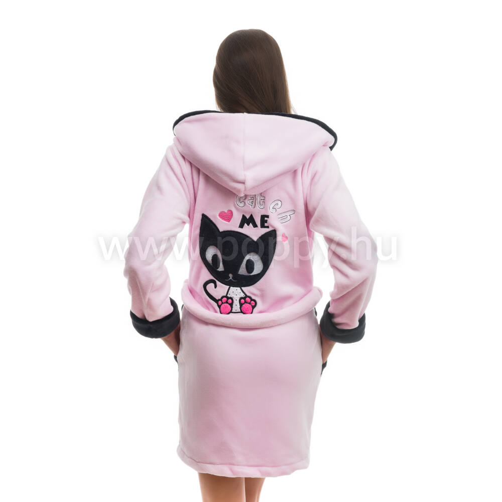 Poppy DK Masnis Cica Rózsa-Fekete Köntös Katt rá a felnagyításhoz 14afebd9a0