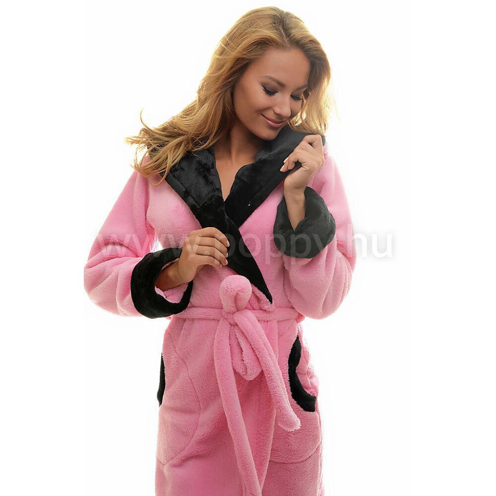 Poppy DK Masnis Cica Közép Pink-Fekete Köntös 9d36855a60
