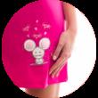 Poppy Ruby Egérke Pink Hálóing