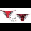 Poppy Stella Maby Baby Piros-Fekete Féltanga