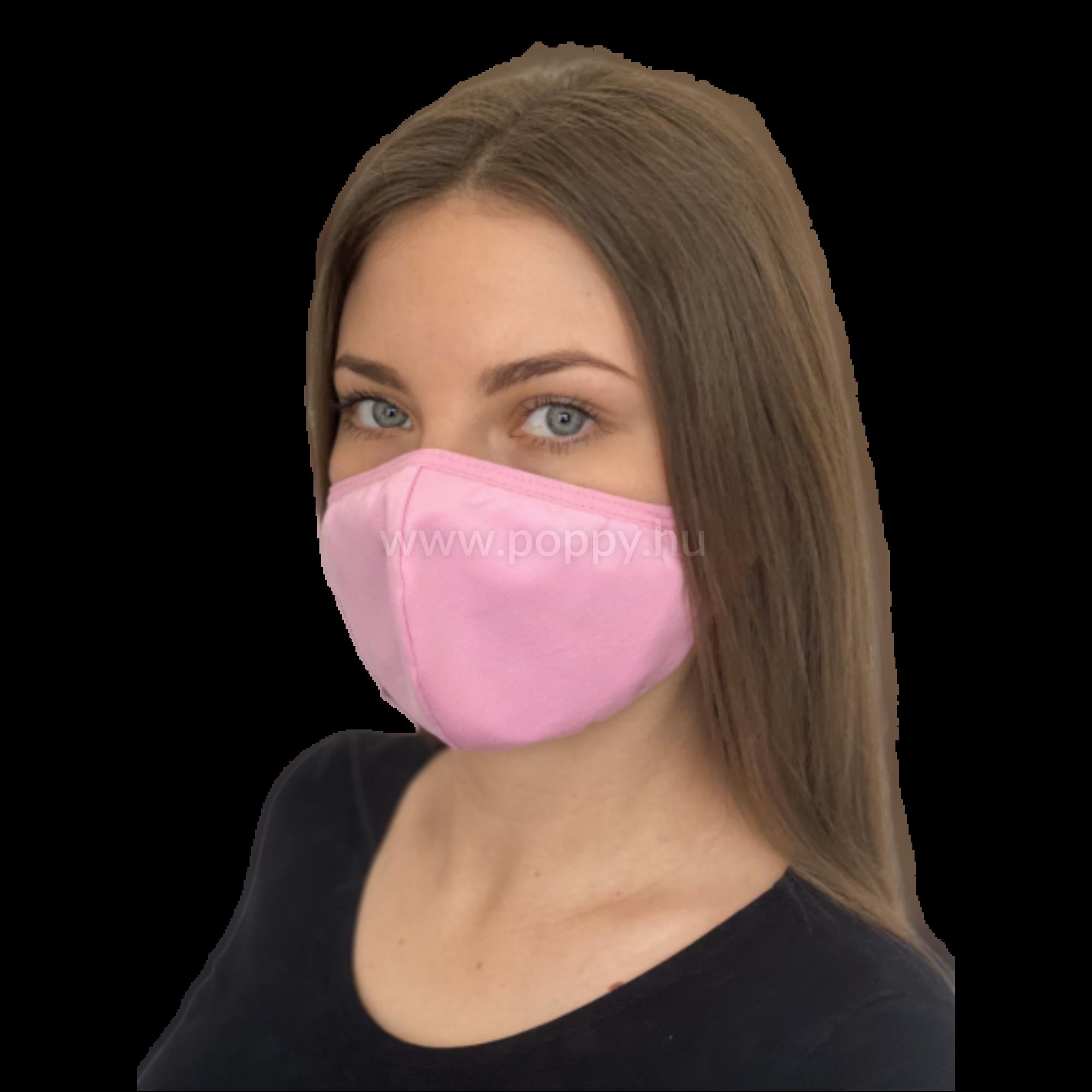 Arcmaszk, Normál köthető, Közép pink