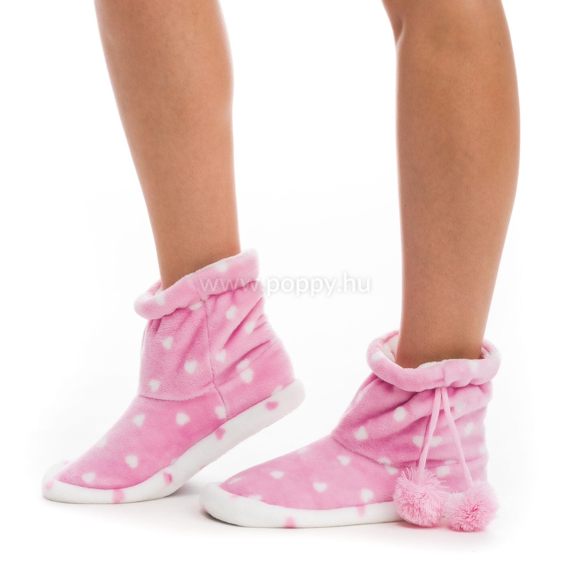 Poppy Aprószíves Közép Pink-Ekrü Csizma