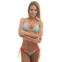 Poppy Crystal Venice Zöld-Fehér-Lazac Bikini
