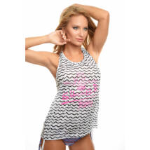Poppy Summer Fekete-Fehér-Pink Trikó