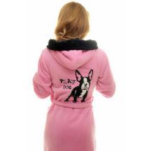Poppy DK Bulldogos Közép Pink-Fekete Köntös