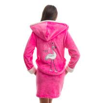 Poppy DK Flamingó Pink-Ekrü Köntös