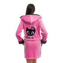 Poppy DK Masnis Cica Közép Pink-Fekete Köntös
