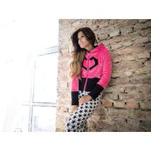 Poppy Sweater Pink-Fekete Pulóver