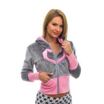 Poppy Sweater Love Poppy Szürke-Közép pink Pulóver, M