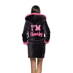 Poppy DK I'm Cheeky Fekete-UV Pink Köntös
