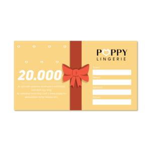 Poppy Ajándékutalvány, 20000 Ft