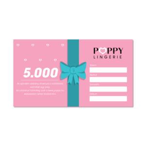 Poppy Ajándékutalvány, 5000 Ft