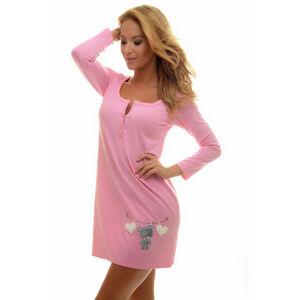 Poppy RubyLong Macikás Közép Pink Hálóing