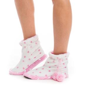 Poppy Aprószíves Ekrü-Közép Pink Csizma