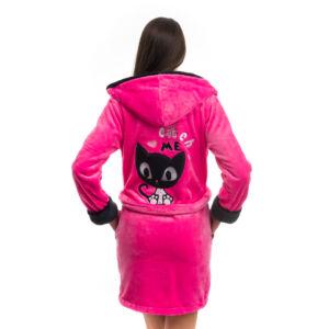 Poppy DK Masnis Cica UV Pink-Fekete Köntös, L