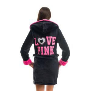 Poppy DK Love Pink Fekete-UV Pink Köntös