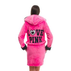 Poppy DK Love Pink UV Pink-Fekete Köntös, XS