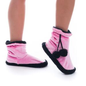Poppy Közép Pink-Fekete Csizma