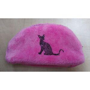 Poppy UV Pink Neszesszer, Strassz cica