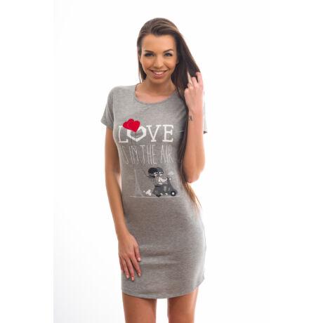 Poppy Begy Love Is In The Air Szürke Hálóing