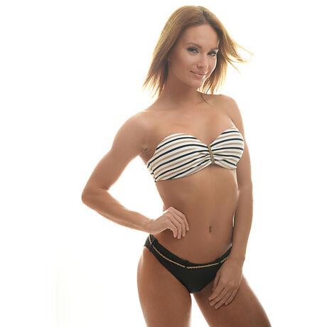 Poppy Szamba Twisted Fekete-Fehér-Arany Bikini