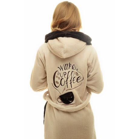 Poppy DK  Wake up Coffee Kávé-Barna Női Köntös