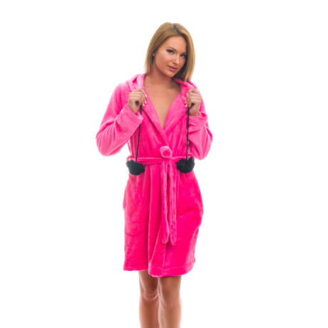 Poppy Long Pink Női Köntös 7e43483eac
