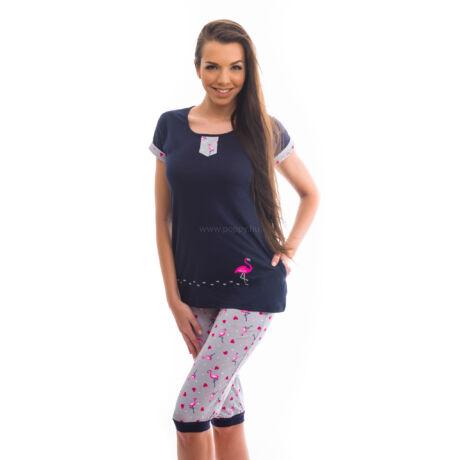Poppy Polly Flamingó Sötétkék Pizsama