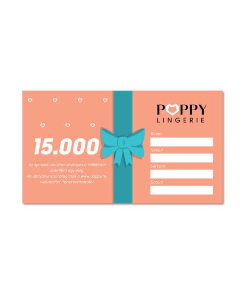 Poppy Ajándékutalvány, 15000 Ft
