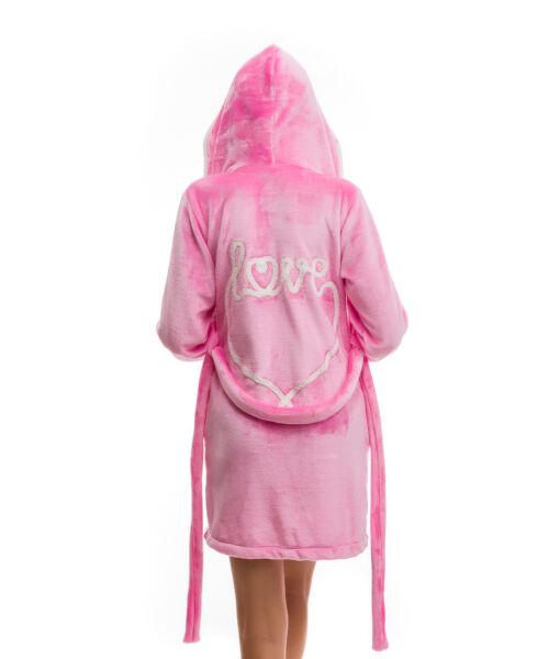 Poppy DK Love Aprószíves Közép Pink-Ekrü Köntös