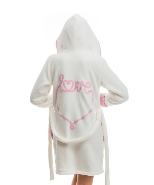 Poppy DK Love Aprószíves Ekrü-Közép Pink Köntös