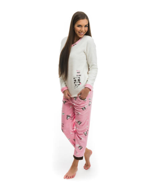 Poppy 2018 Nice Panda Rózsa-Barna Pizsama, M