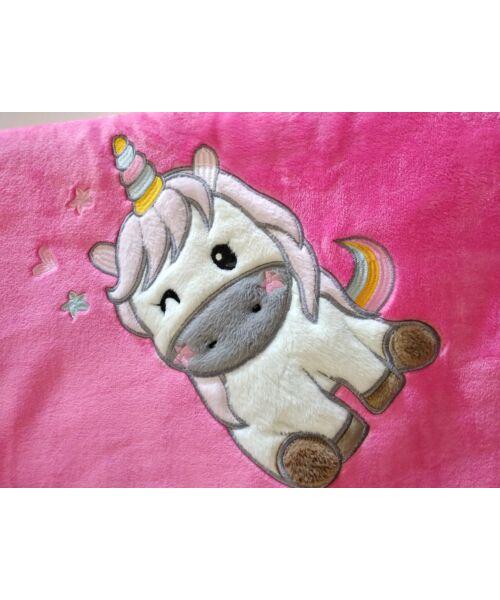 Poppy Outlet Baby unikornis Közép pink Takaró