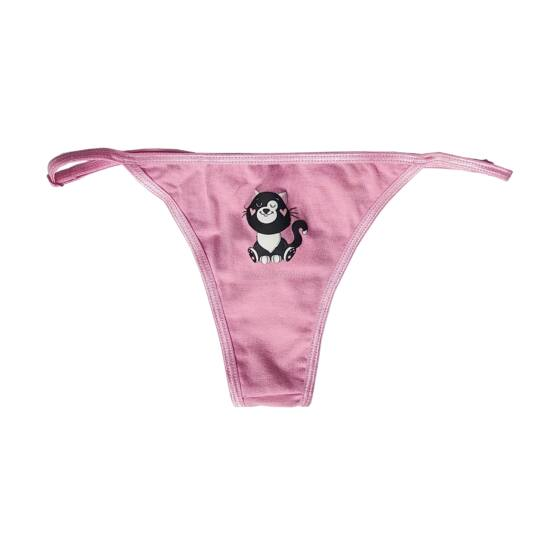Poppy Niki Cute Cica közép pink Tanga