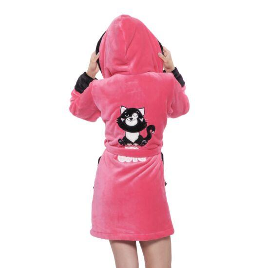 Poppy DK Cute cica UV Pink-Fekete Köntös