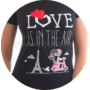Kép 2/2 - Poppy Begy Love Is In The Air Fekete Hálóing