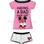 Kép 4/4 - Poppy Aletta Minnie Bad Bow Közép pink Szett
