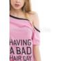 Kép 2/4 - Poppy Aletta Minnie Bad Bow Közép pink Szett