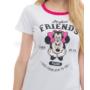 Kép 2/3 - Poppy Begy Minnie Friends Fehér Hálóing